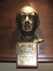 A bust of J. R. R. Tolkien in a chapel in Oxford