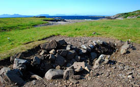 Ardnamurchan ship burial archaeological site